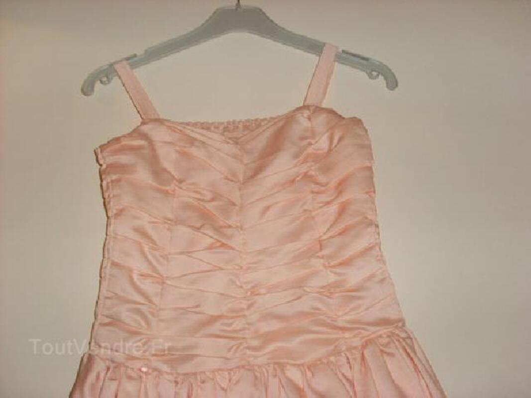 Robe de soirée fille 6 ans rose saumon 91927061