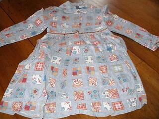 Robe gris bleuté DU PAREIL AU MEME Taille 4 ans