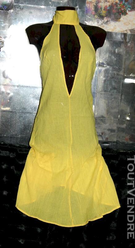 Robe Longue Décolletée Dos Nu cou Sexy marque DIESEL 36 38 114985347