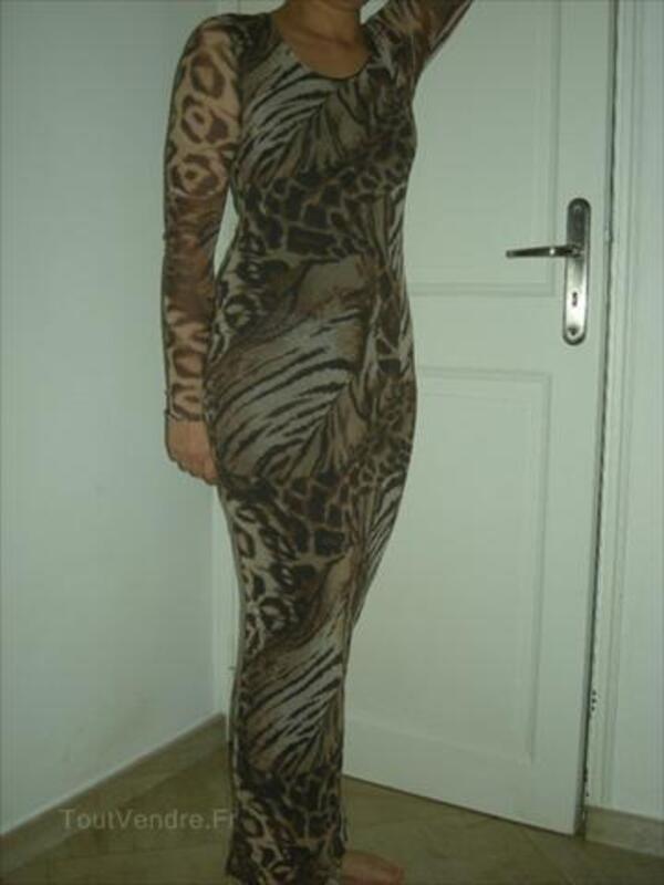 Robe longue NULLE PART AILLEURS tigre et panthère 54628374
