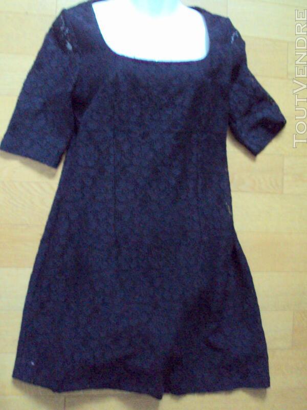 Robe  noire dentelle chic 40 200508273