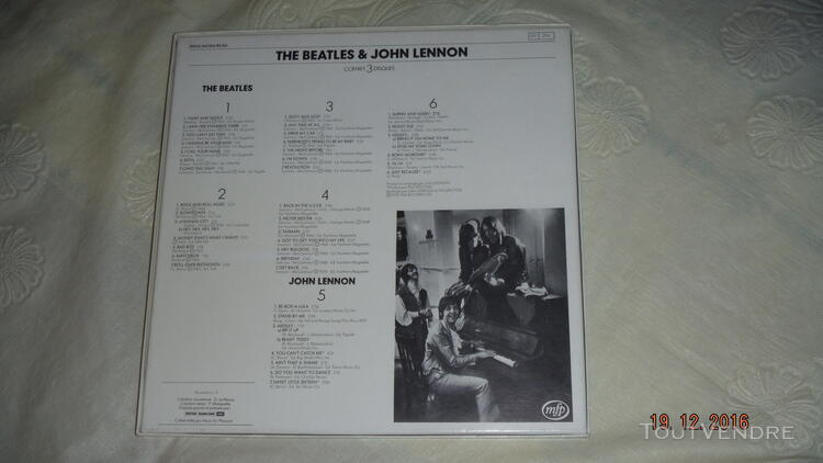 ROCK & ROLL - THE BEATLES et J.LENNON- coffret 3 disques vin 170685822