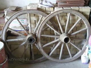 Roues bois de charette Diametre 92 cm