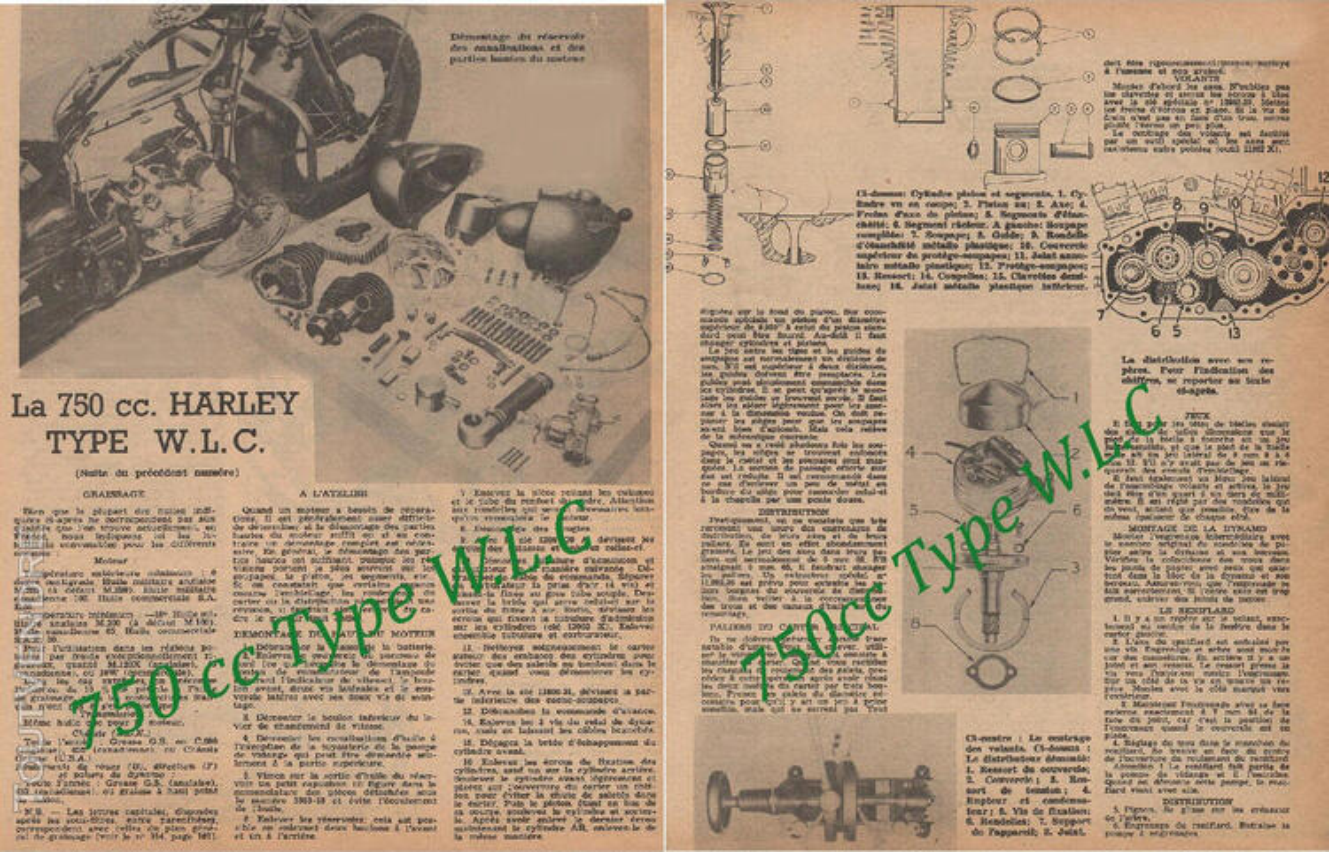 RTM Harley Davidson WLA & WLC U.S 755806662