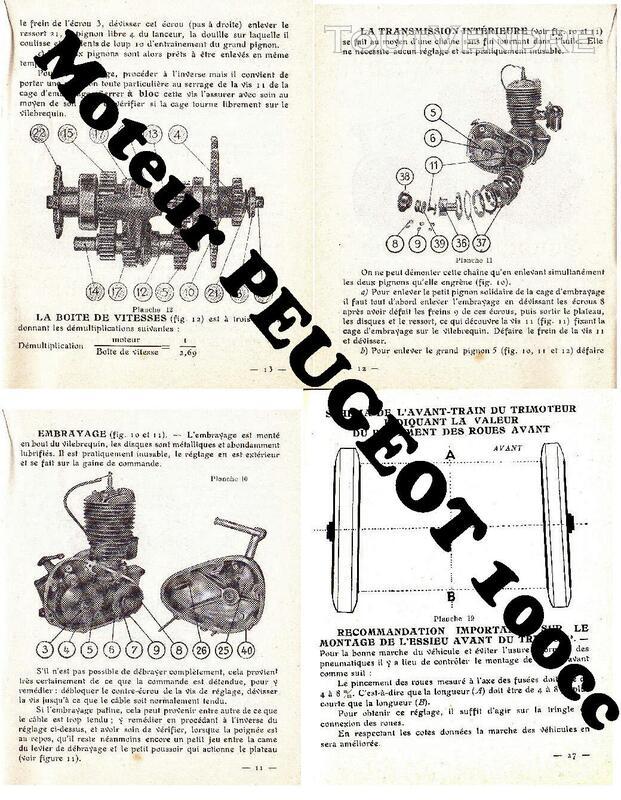 RTM pour 100 Peugeot & Triporteur 100 Peugeot 531323676