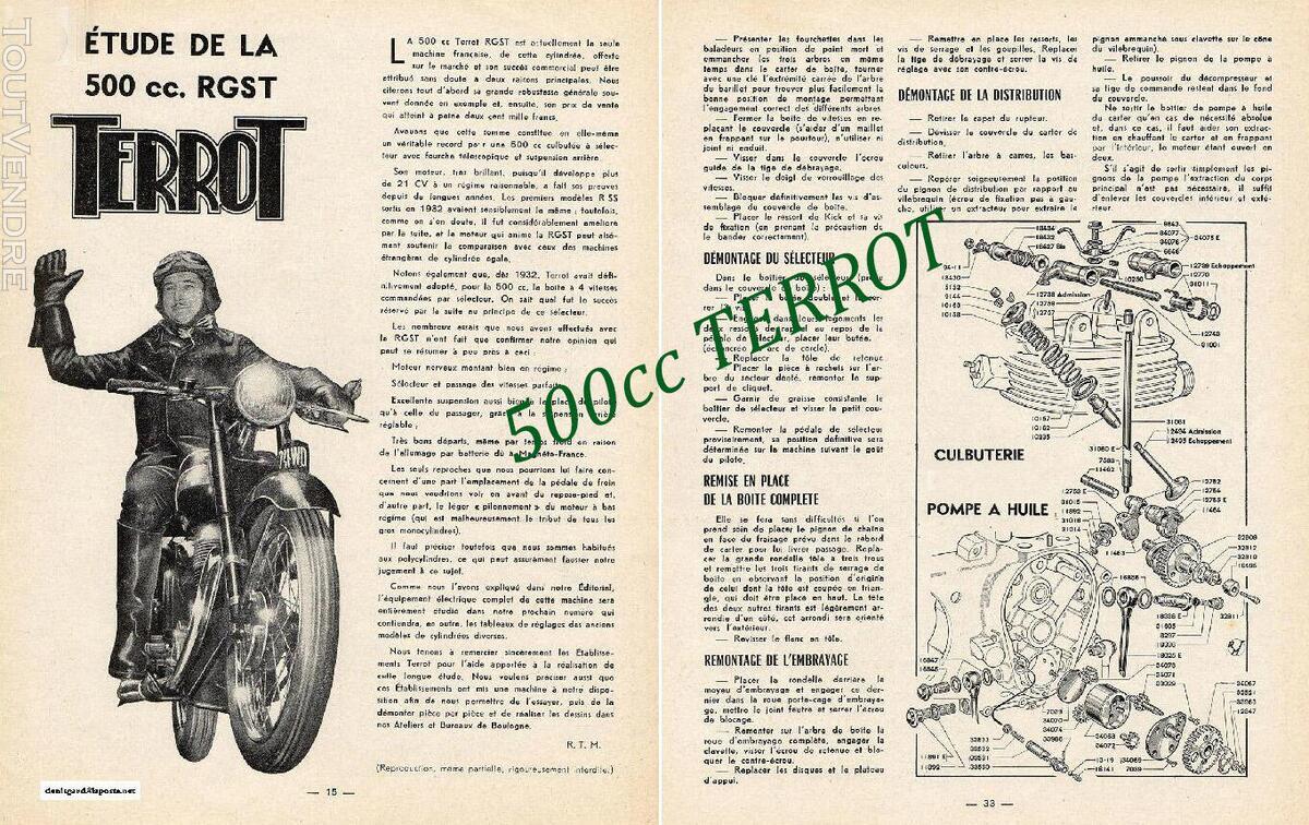 RTM pour 350 & 500 TERROT 758727753