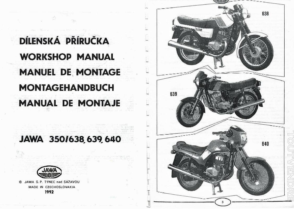 RTM pour Moto JAWA - CZ en Français 760347698