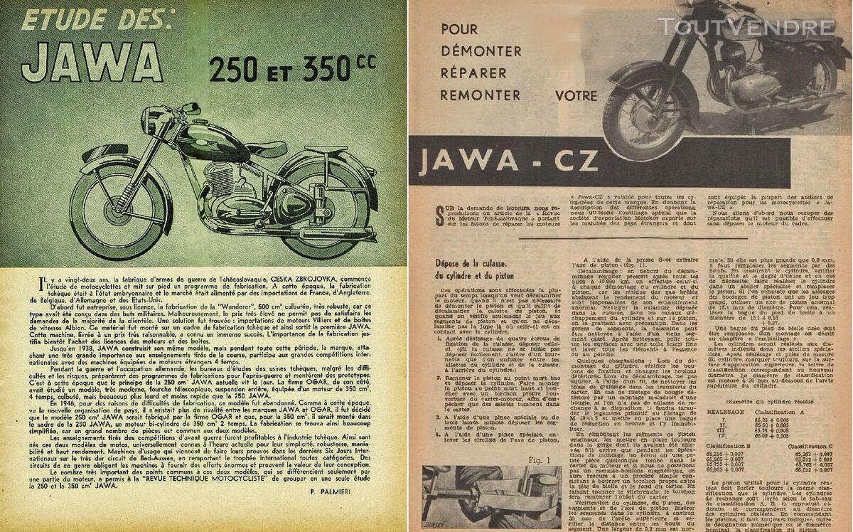 RTM pour Moto JAWA - CZ en Français 760347701