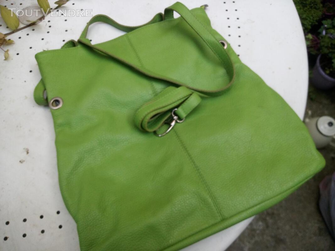 Sac à mains italien pur cuir vert- neuf 506116983