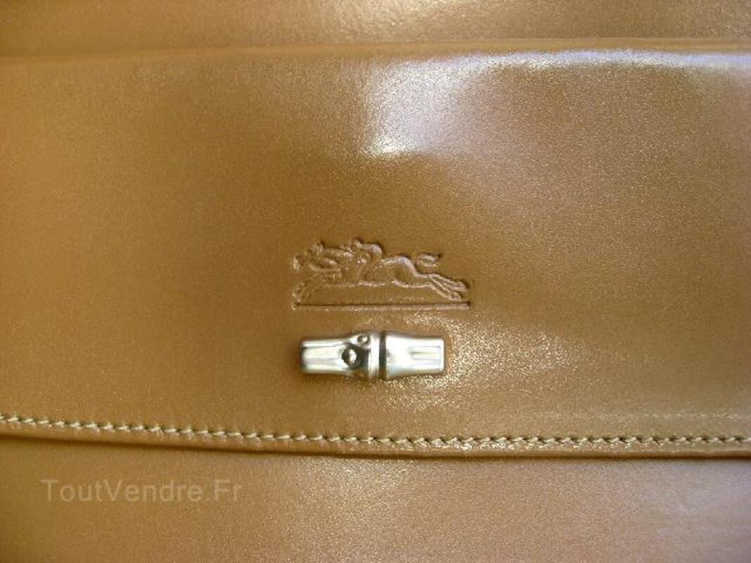 Sac beige Longchamp Véritable 97127446