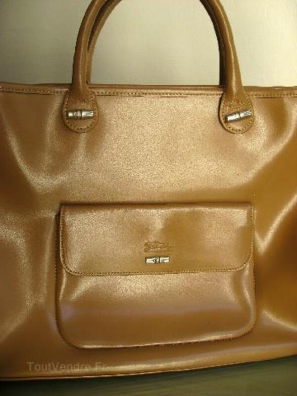 Sac beige Longchamp Véritable 97127447