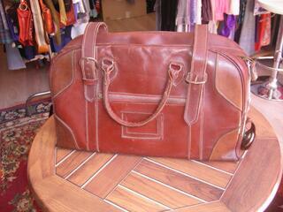 sac cuir rétro valise