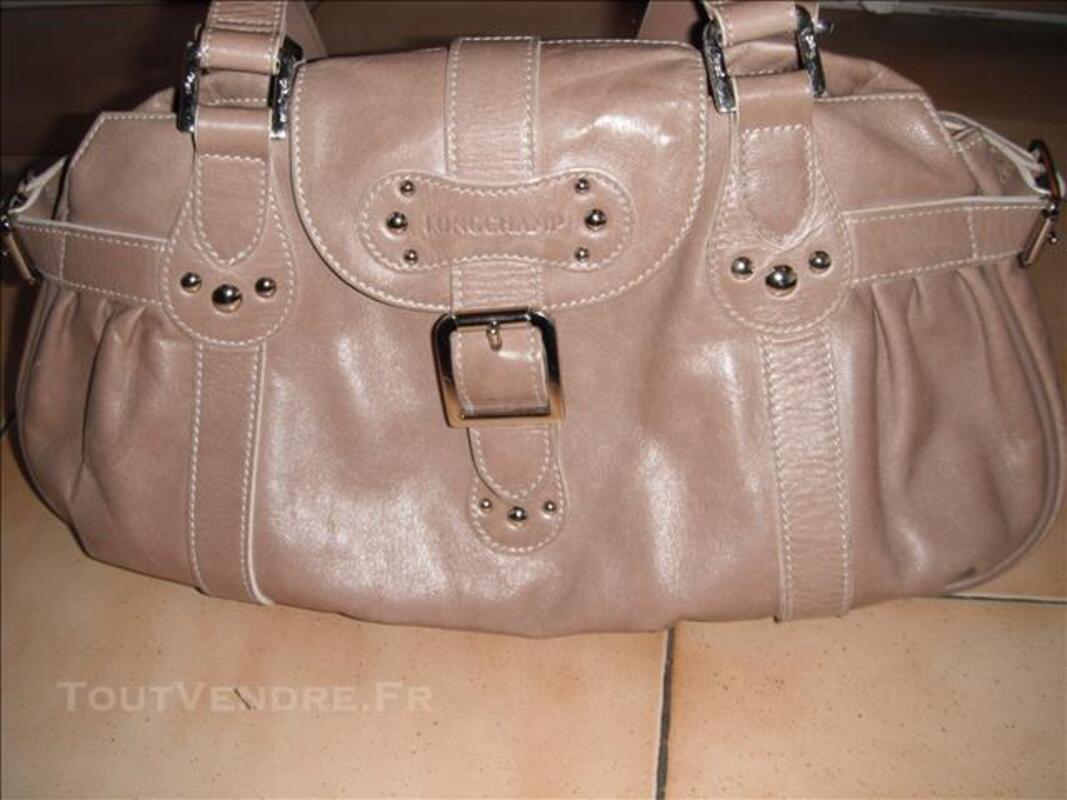 Sac longchamp cuir beige 78095107