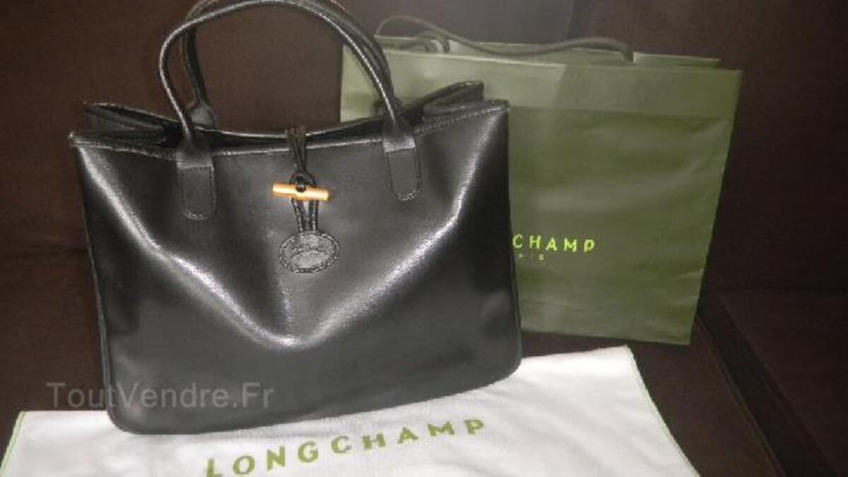 Sac LONGCHAMP Noir ROSEAU Doré 102806227