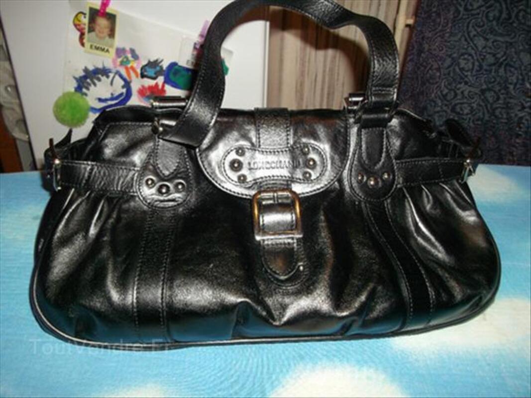 Sac Longchamps cuir noir Idole 55840178