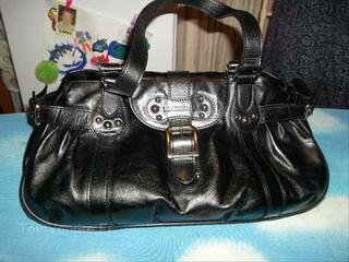 Sac Longchamps cuir noir Idole