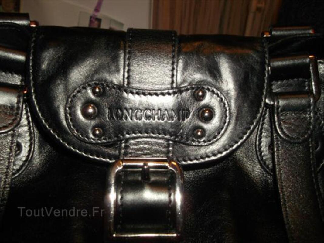 Sac Longchamps cuir noir Idole 55840182