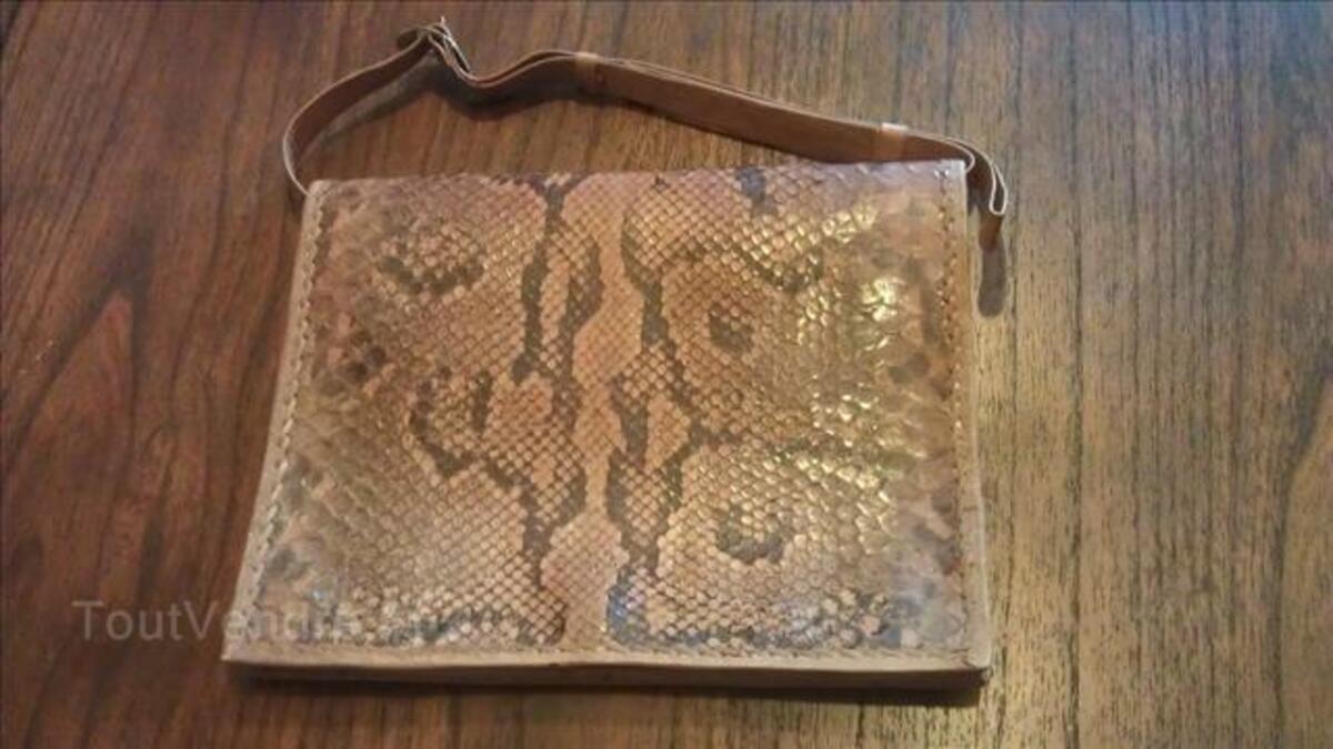 Sac / sacoche peau de serpent véritable 71869153