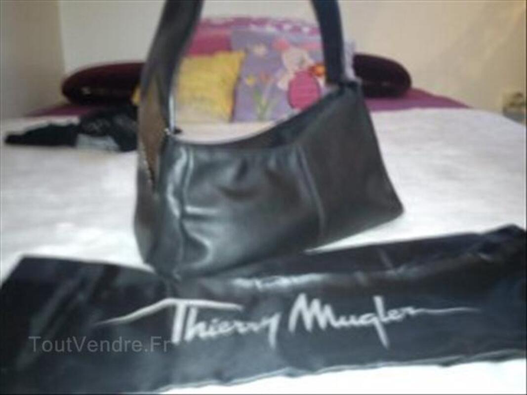 Sac THIERRY MUGLER cuir noir 54606331