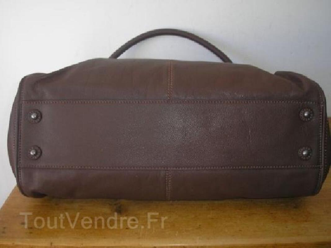 Sac Upla cuir taille XL marron chocolat 89892508