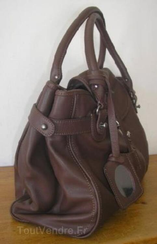 Sac Upla cuir taille XL marron chocolat 89892509