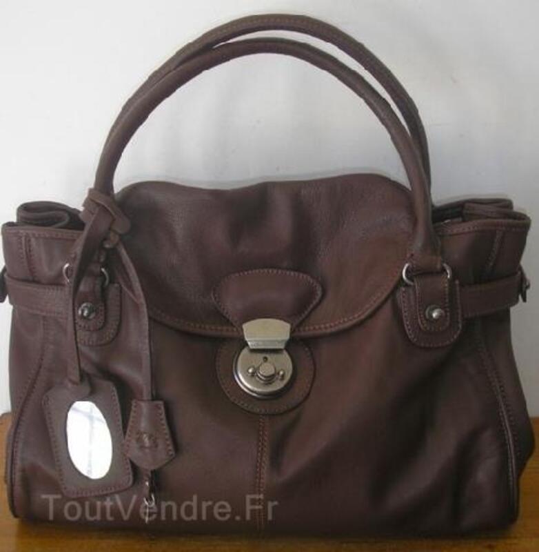 Sac Upla cuir taille XL marron chocolat 89892510