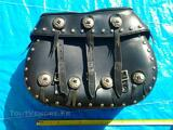 SACOCHES RIGIDES CUIR pour Harley Davidson ROAD KING