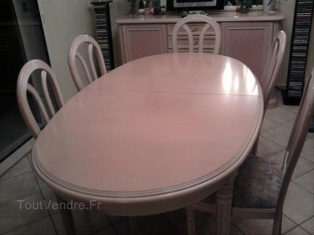 Salle à manger ovale avec 6 chaises et un buffet 56548501