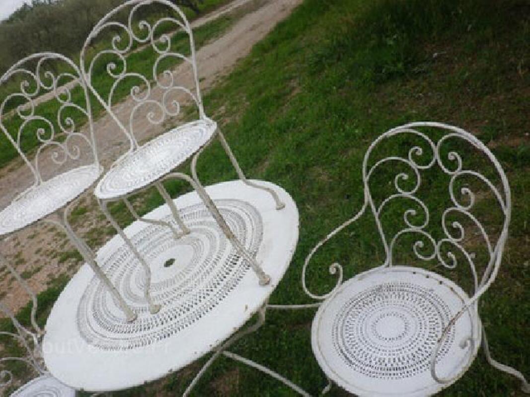 Salon de jardin ancien, 2 chaises 2 fauteuils, superbe! 92578761