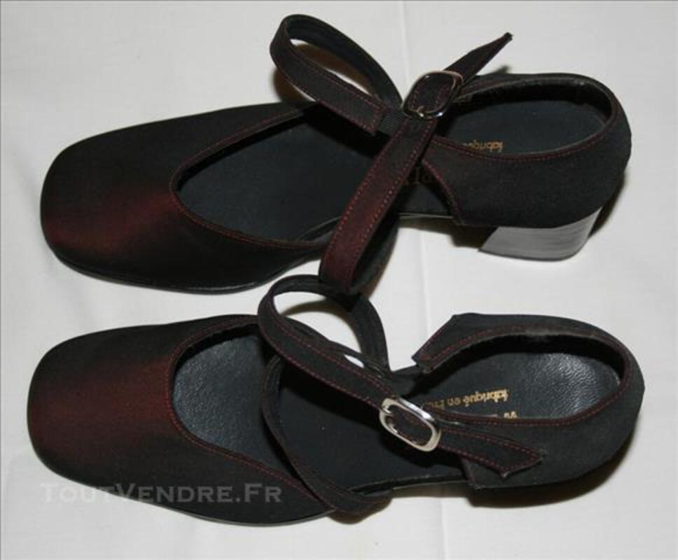 Sandale ouverte à talon bordeaux 78060274