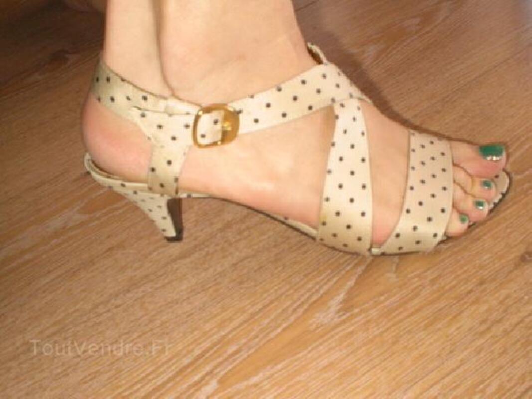 Sandales chic à pois 93015572