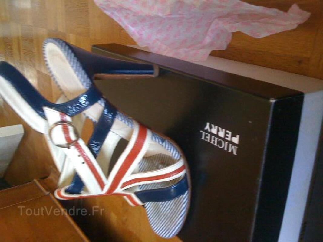 Sandales drapeau anglais Michel PERRY T. 38 94051434
