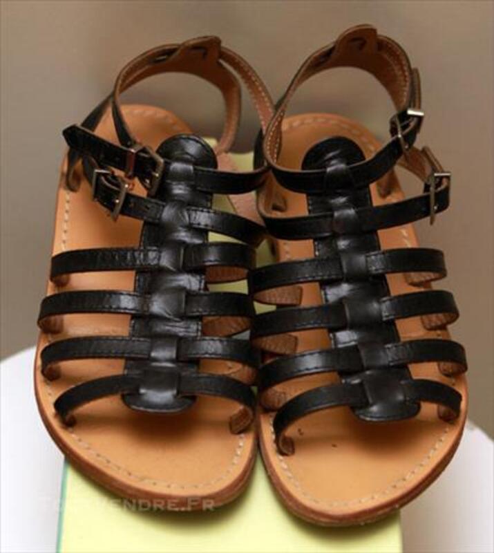 Sandales les tropeziennes noir en cuir taille 36 85253956