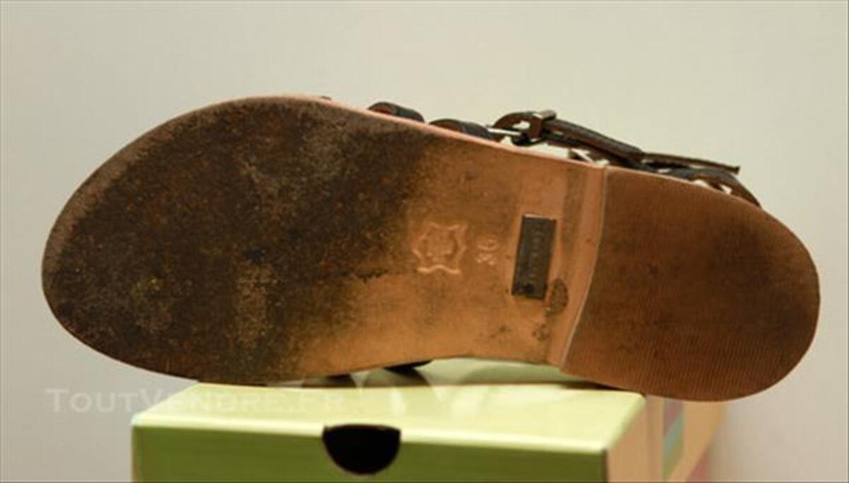 Sandales les tropeziennes noir en cuir taille 36 85253957