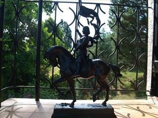 Sculpture en bronze Jeanne d'Arc à cheval.Alfred BARYE