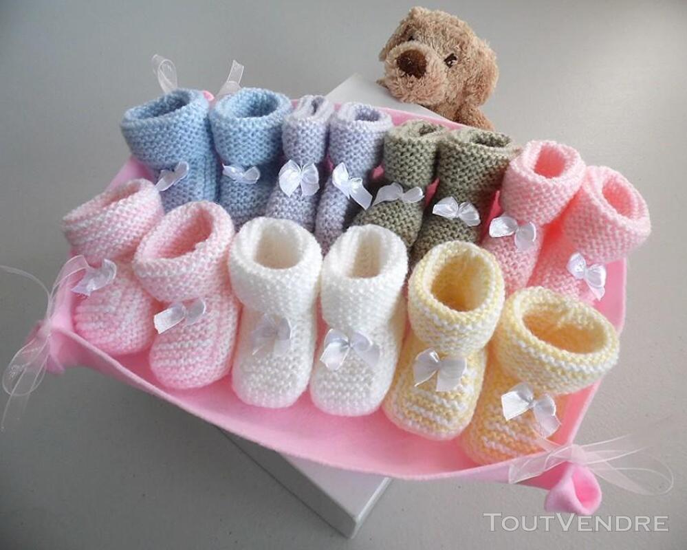 Semainier de chaussons tricot laine bébé fait main 168286455