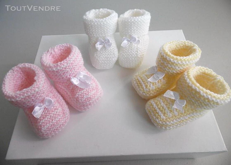 Semainier de chaussons tricot laine bébé fait main 168286458