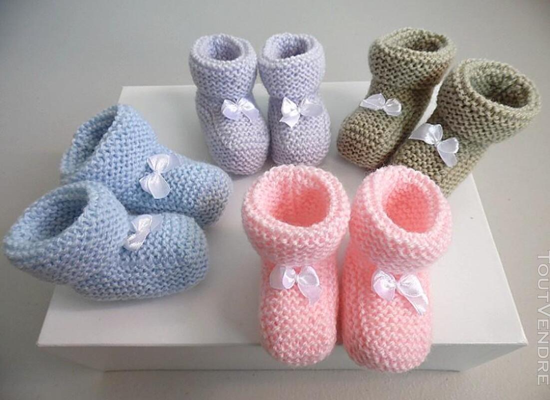 Semainier de chaussons tricot laine bébé fait main 168286461