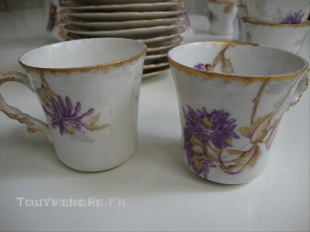 Service à café porcelaine Limoges fin 19è-début 20è 45537232