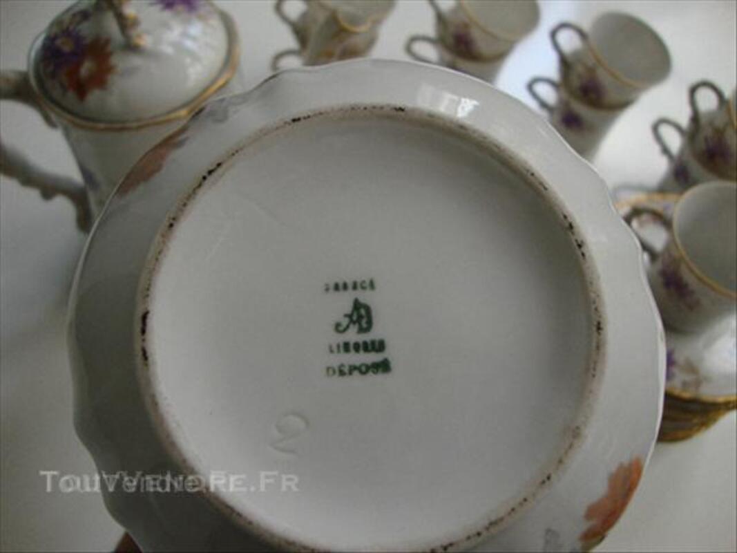 Service à café porcelaine Limoges fin 19è-début 20è 45537233
