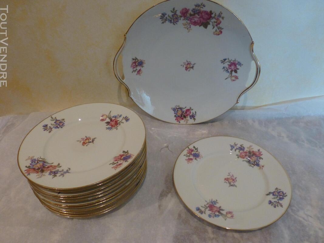 Service à dessert porcelaine P.D. 150461807