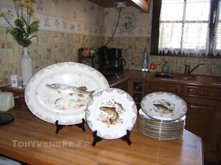 Service a poisson porcelaine de limoge parfaite etat