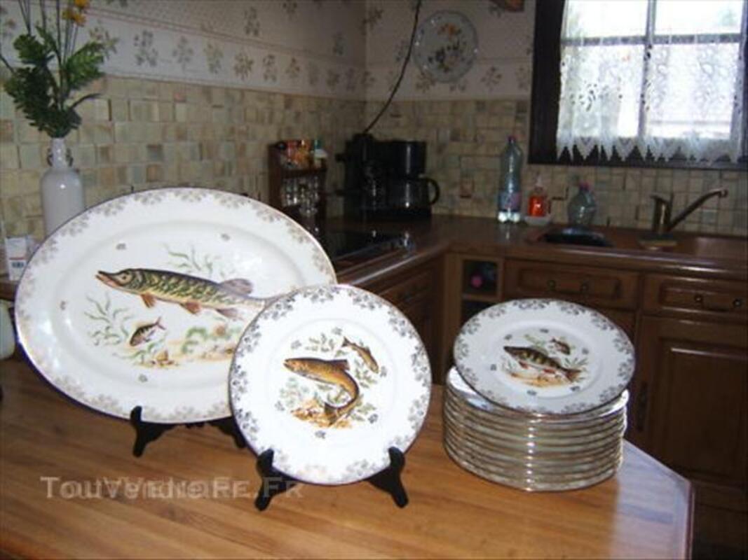 Service à poissons en porcelaine de limoges 45561007
