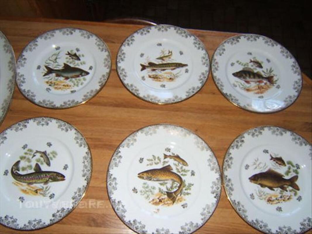 Service à poissons en porcelaine de limoges 45561008
