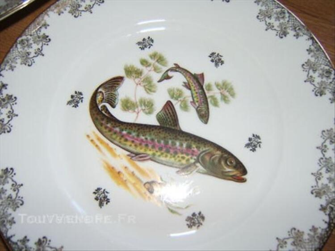 Service à poissons en porcelaine de limoges 45561010
