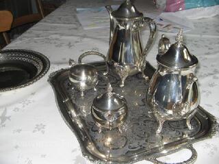 Service à thé , café métal argenté VINERS OF SHEFFIELD