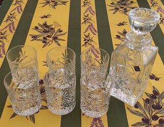 Service à Whisky en cristal de Bohème