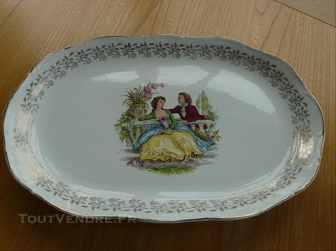 Service d'assiettes et plats porcelaine Digoin 85577310