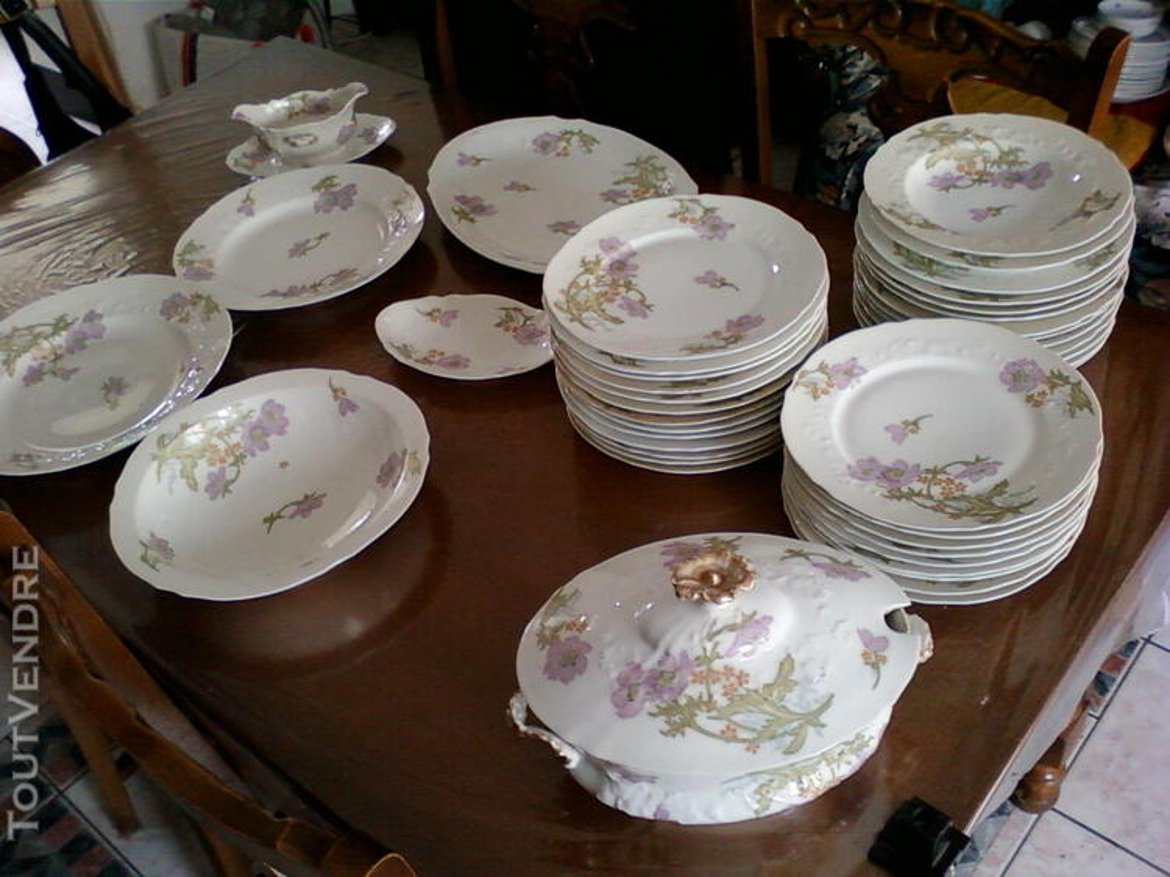 """Service de table """"porcelaine de Limoge ancien"""" 373097461"""
