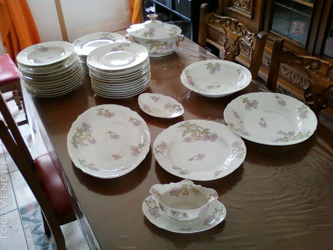 """Service de table """"porcelaine de Limoge ancien"""" 373097464"""